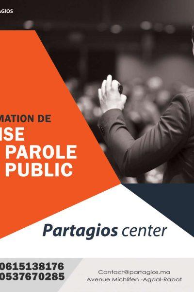 Prise de parole Partagios center rabat agdal